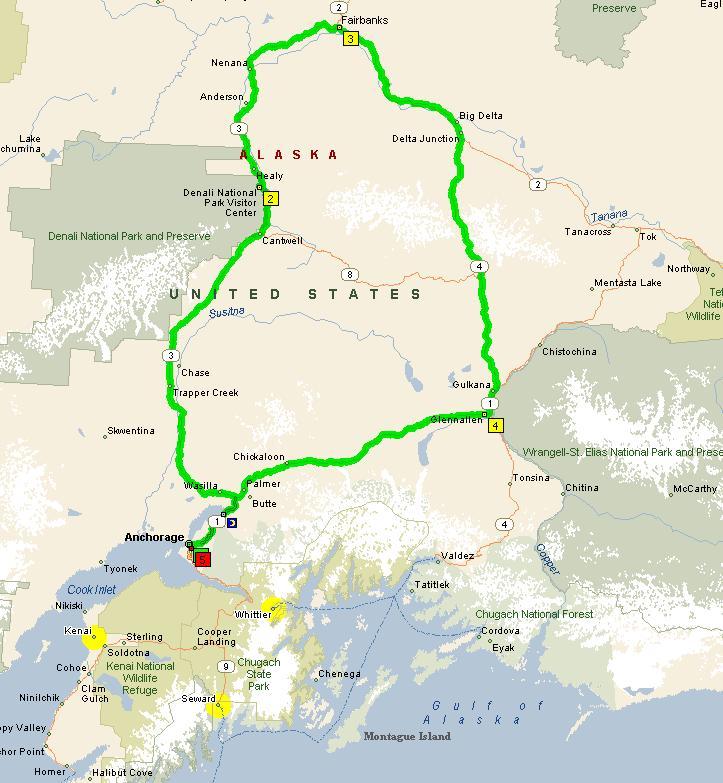Two Major Days Alaska Tours - Alaska tour